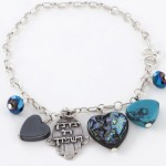 Bracelet to Ward off the Evil Eye – Turquoise Heart
