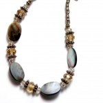 Abalone Shell Necklace in Shades of Brown